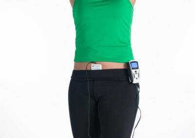 PEMF therapy device applied to abdomen