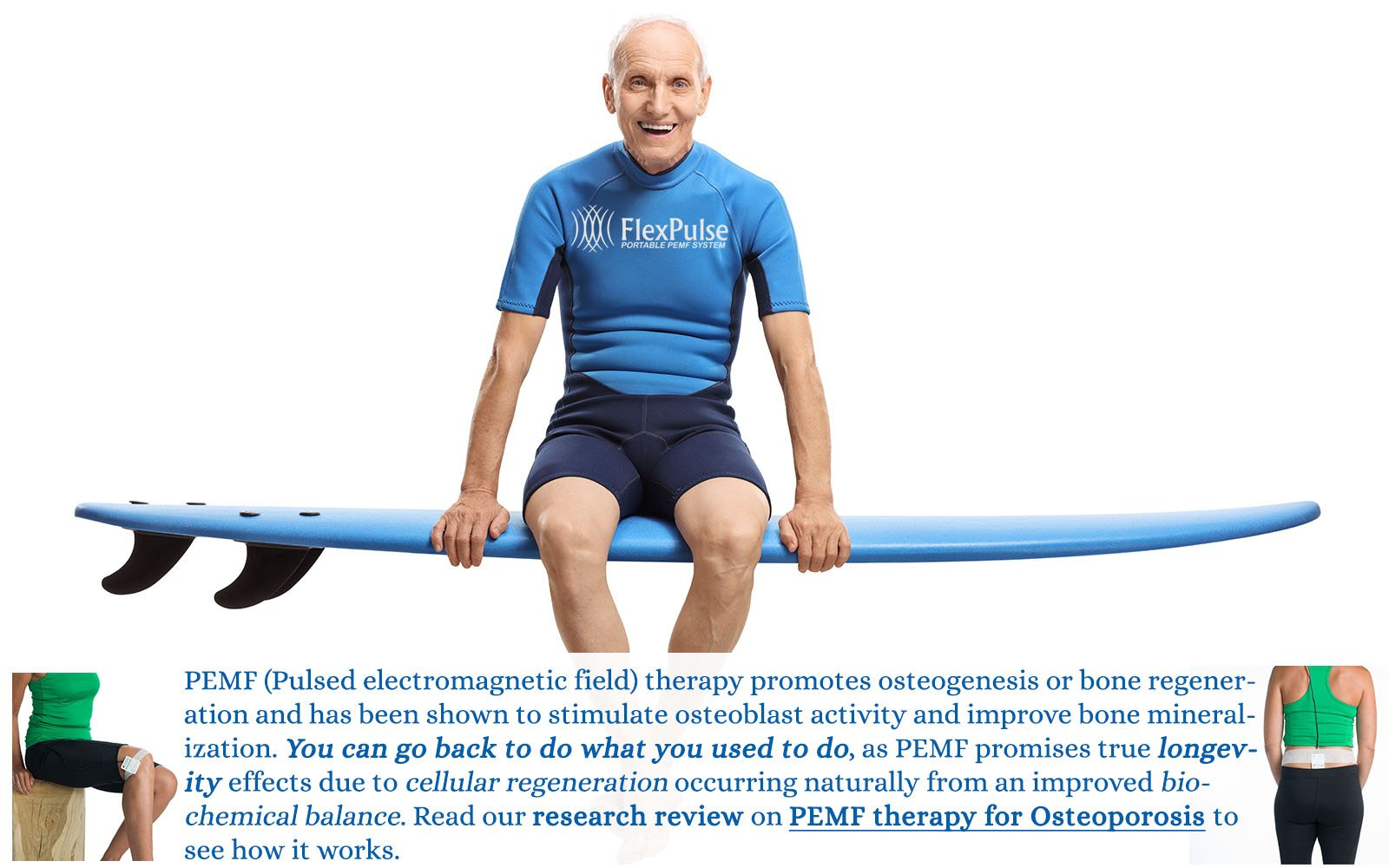 PEMf therapy for osteoporosis treatment bone health antiaging