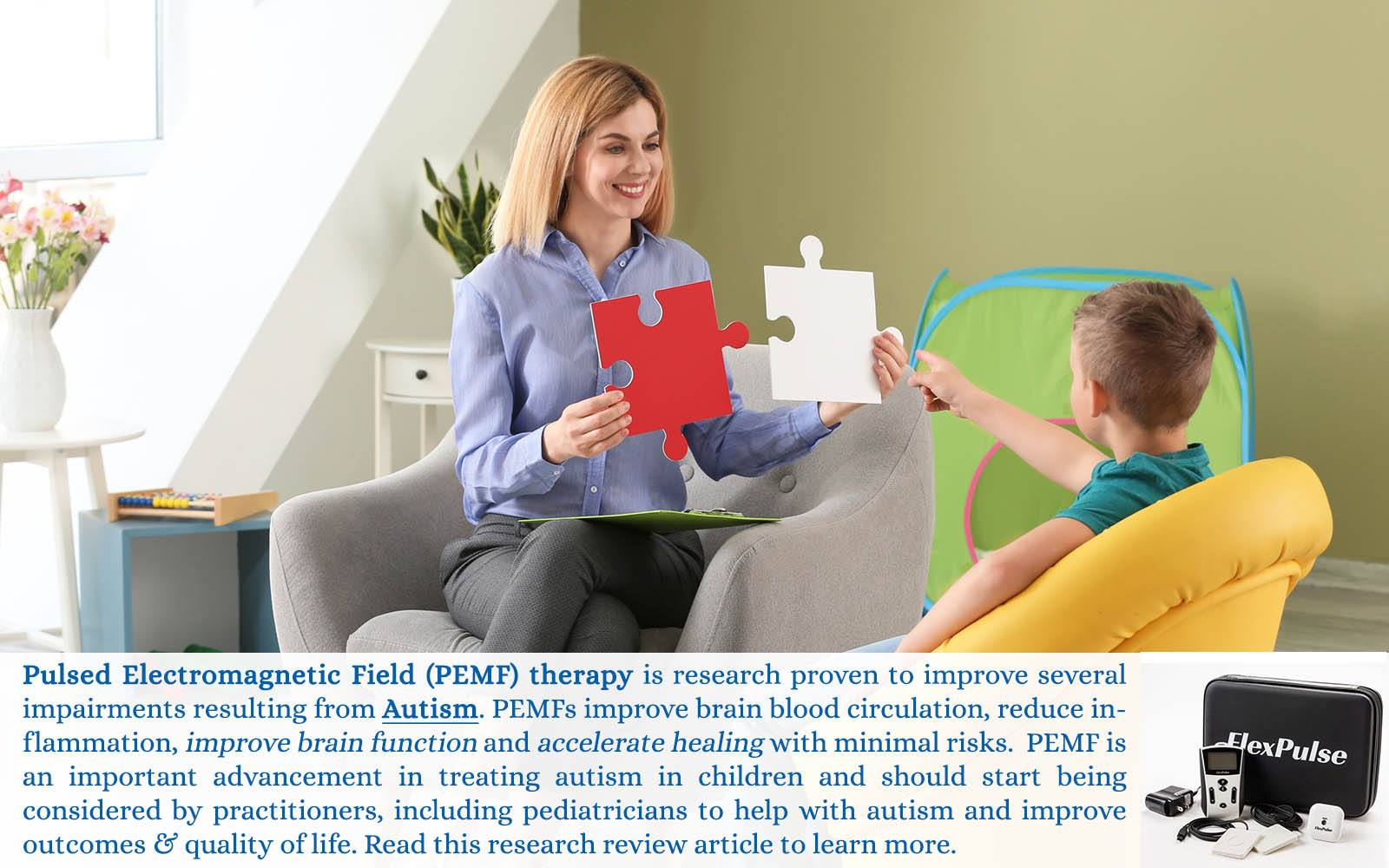 Pulsed magnetic therapy for Autism treatment